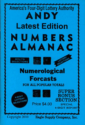Andy's Number Almanac 4 Digit Book