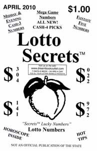 Georgia Lotto Secrets 2, 3, & 4 Digit Tip Sheet