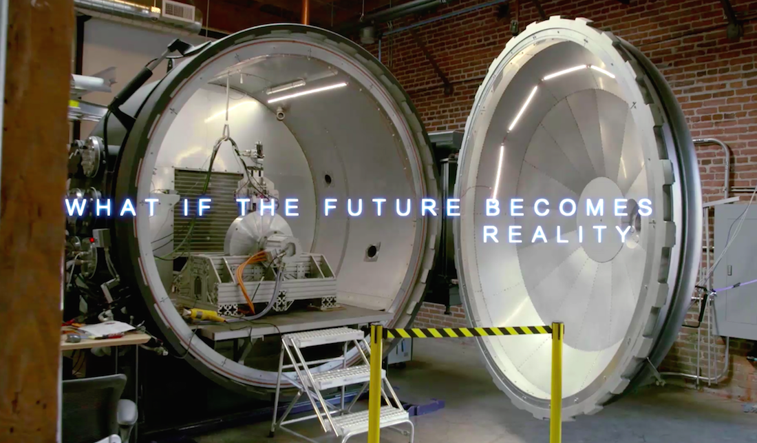 hyperloop lighting inside tube