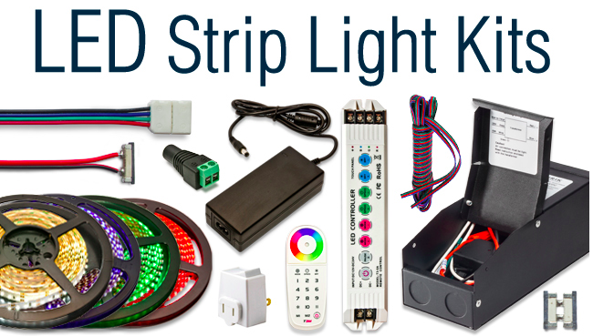 bracket supply ul light a controller p with power strip led set m rgb en kit mounting and ir gift