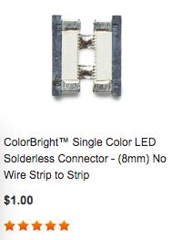 8mm strip light connector