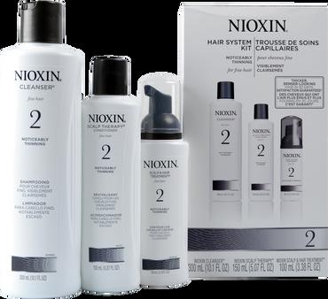 Nioxin 2 Hair System Kit Noticeably Thinning Fine Hair