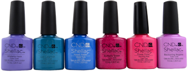 6 pc CND Shellac Garden Muse Collection