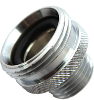 An adapter for converting gerber brand shower arms to standard 1/2 inch male pipe threads.