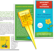 The kit includes a 6 page, color booklet full of useful lawn watering conservation tips, practical and easy to follow advice that will make a real difference on our water use.