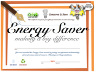 Student Energy Achievement Certificate | Child Energy Conservation Award