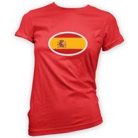 Spanish Flag Womans T-Shirt