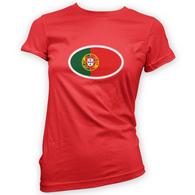 Portuguese Flag Womans T-Shirt