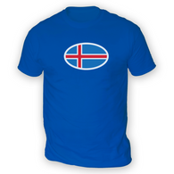 Iceland Flag Mens T-Shirt