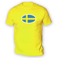 Swedish Flag Mens T-Shirt