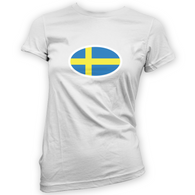 Swedish Flag Womans T-Shirt