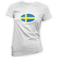 Swedish Flag Womans T-Shirt
