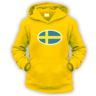 Swedish Flag Kids Hoodie