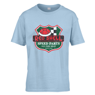 Red Shell Speed Parts Kids T-Shirt