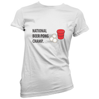 Beer Pong Champ Womans T-Shirt