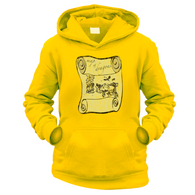 Map of Dragons Kids Hoodie