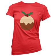 Xmas Pudding Womans T-Shirt