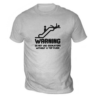 Warning Escalators Mens T-Shirt
