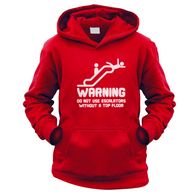 Warning Escalators Kids Hoodie
