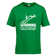Warning Escalators Kids T-Shirt