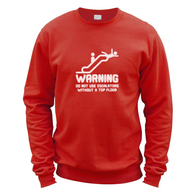 Warning Escalators Sweater
