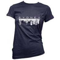 Sydney Skyline Womens T-Shirt
