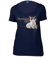 Grumpy Cat Womens Scoop Neck T-Shirt