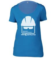 Emmet Brickowski Construction Womens Scoop Neck T-Shirt