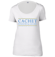 Cachet Windows Womens Scoop Neck T-Shirt
