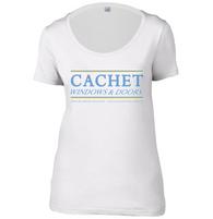 Cachet Windows Womens Scoop Neck T-Shirt