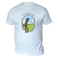 I'd Rather Be Golfing Mens T-Shirt