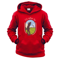 I'd Rather Be Golfing Kids Hoodie