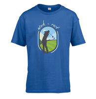 Work Rest Golf Kids T-Shirt