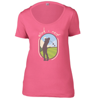 Work Rest Golf Womens Scoop Neck T-Shirt