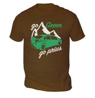 Go Green Go Prius Mens T-Shirt
