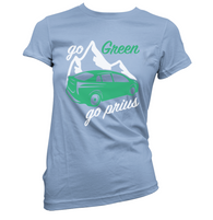 Go Green Go Prius Womens T-Shirt