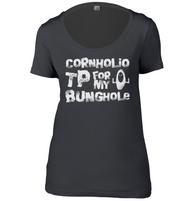 Cornholio TP Womens Scoop Neck T-Shirt