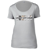 Crazy Cat Lady Womens Scoop Neck T-Shirt