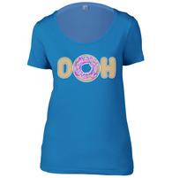 DOH Doughnut Womens Scoop Neck T-Shirt