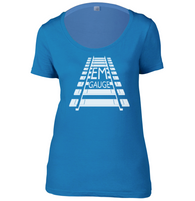 EM Gauge Womens Scoop Neck T-Shirt