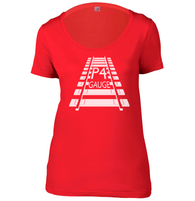 P4 Gauge Womens Scoop Neck T-Shirt