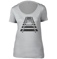 0/7mm Gauge Womens Scoop Neck T-Shirt