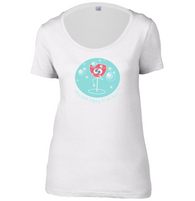 Happy Hour Womens Scoop Neck T-Shirt