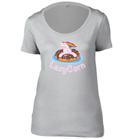 LazyCorn Womens Scoop Neck T-Shirt