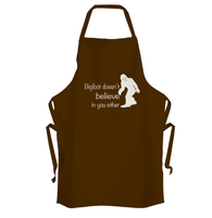 Bigfoot Doesnt Believe In You Apron