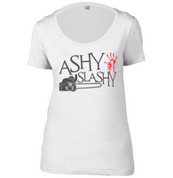Ashy Slashy Womens Scoop Neck T-Shirt