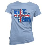 Iceland Fire Saga Womens T-Shirt