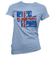 Iceland Fire Saga Womens T-Shirt
