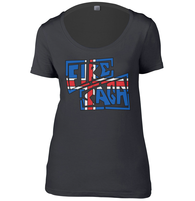 Iceland Fire Saga Womens Scoop Neck T-Shirt
