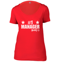 Number 1 FPL Manager Womens Scoop Neck T-Shirt